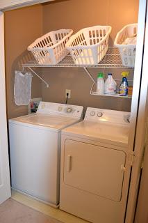 laundry slanted shelf